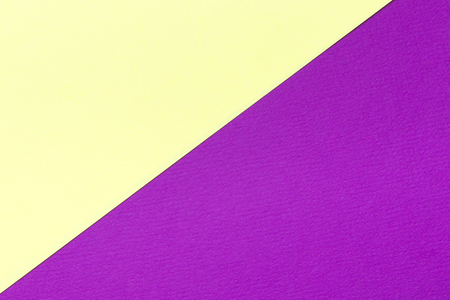 Yellow and purple color cardboard texture background. Trend colors, geometric paper background. Colorful of soft paper background. Stock Photo