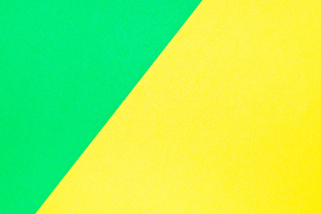 Green and yellow color corrugated cardboard texture background. Trend colors, geometric cardboard paper background.