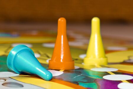 Board games for the home. plastic chips  on Board games for children