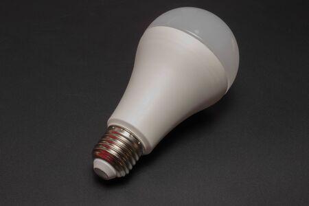 LED lamp on a black background