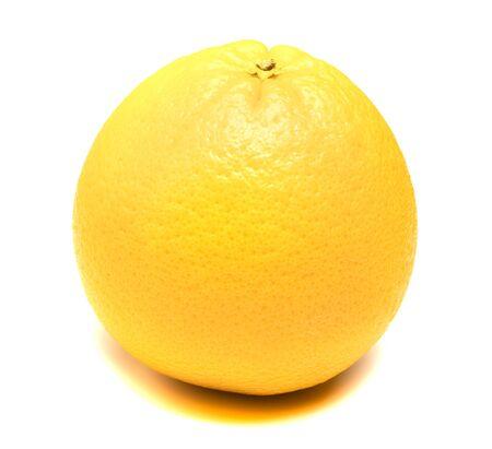 yellow lemon lies on a white background