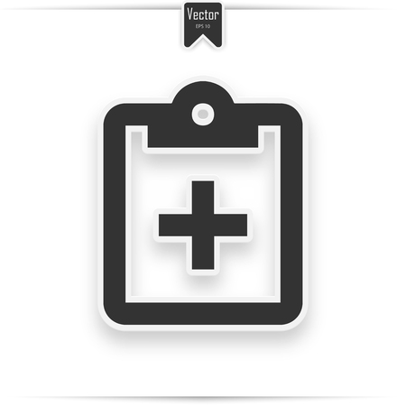 clipboard checklist or clipboard survey form line art icon for apps and websites