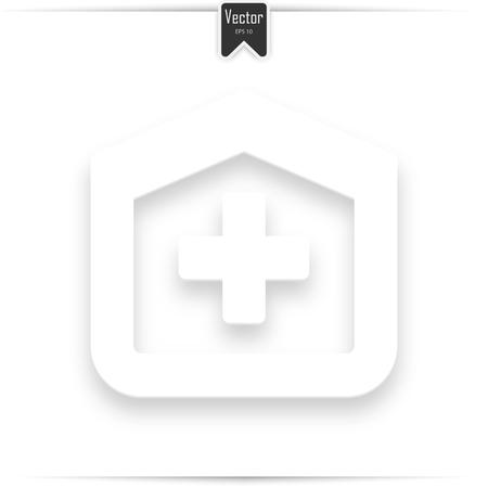 Hospital icon. hospital design over white background vector illustration