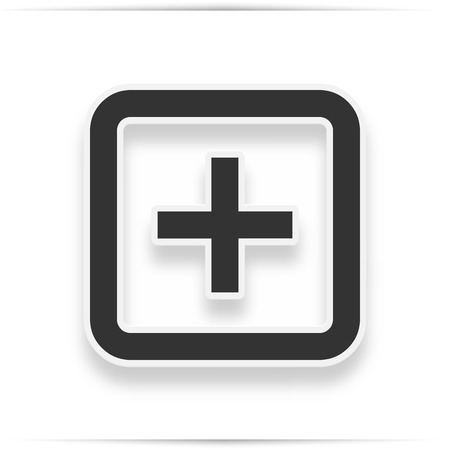 Hospital icon on the white background.  hospital icon with realistic shadow