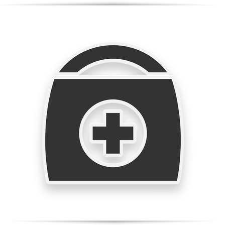 Physician or doctor bag flat icon for medical app and website 写真素材