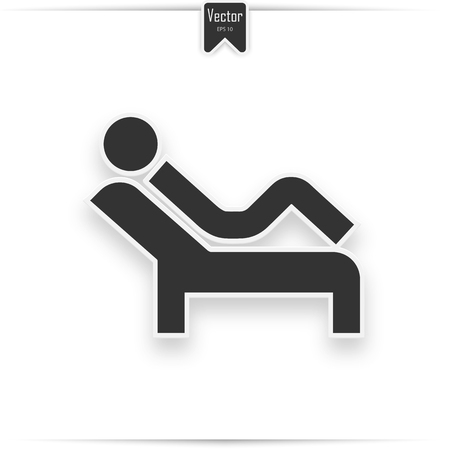 physical therapy flat icon. psychology session sign vector