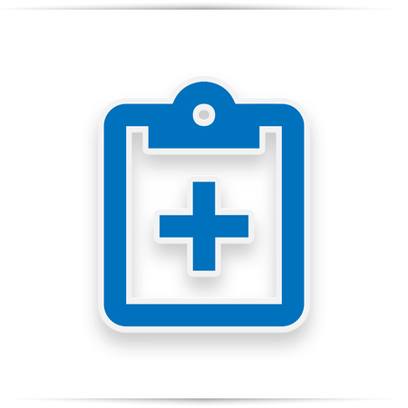 medical form, clipboard checklist or clipboard survey. Element of medicine for mobile concept and web apps. Icon for website design and development, app development. Premium icon on white background