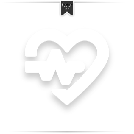 Heart line icon. High quality outline logo for web site design and mobile apps. Vector illustration on a white background.