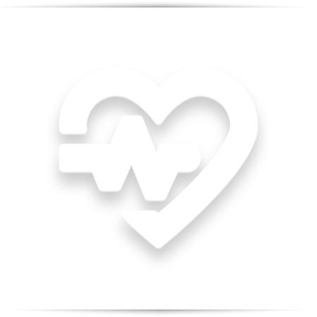 Heart line icon. High quality outline for web site design and mobile apps.  illustration on a white background.