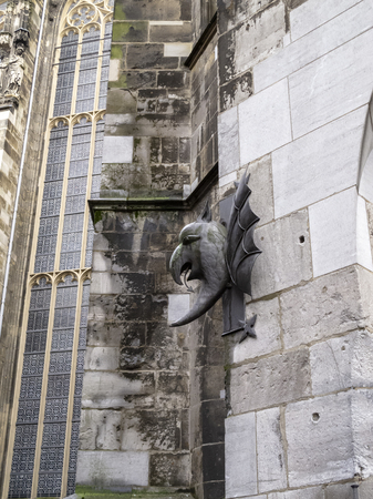 Aachen Cathedral exterior decoration, detail, in Aachen Germany Imagens
