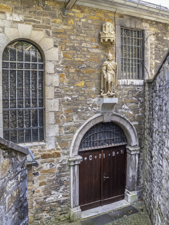 Church of St. Lucia or St. Lucy entrance, the oldest church of Stolberg, Rhineland, Germany