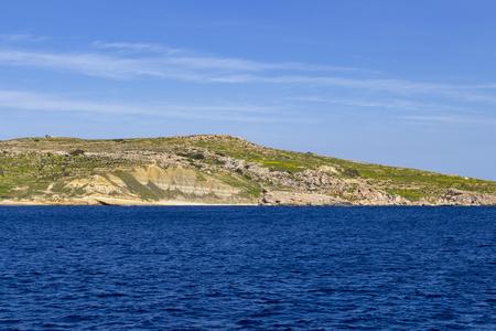 Gozo spring coastline view at Qala, Malta