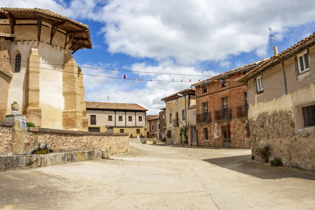 Viloria de Rioja, Burgos, Castilla y Leon, Spain street view on the Way of St. James, Camino de Santiago