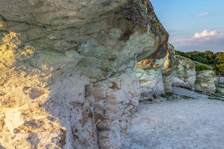 The Stone Mushrooms near Beli Plast village at sunset, Kardzhali Municipality, Bulgaria Stock Photo