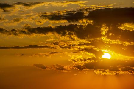 Beautiful summer sunset near Krum, Southern Bulgaria