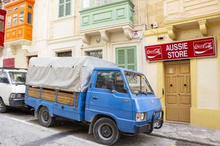 COSPICUA, MALTA - MARCH 09, 2018: Aussie Store exterior at Cospicua or Bormla - one of the Three fortified Cities of Malta Stock Photo - 133267138