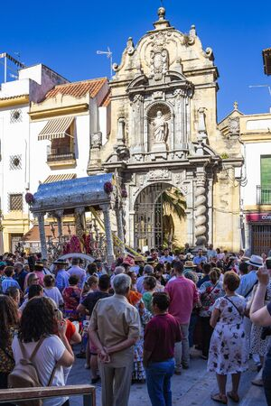 CORDOBA, SPAIN - MAY 30, 2019: Feria de Cordoba, Feria de Nuestra Senora de la Salud or Cordoba Fair