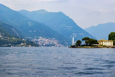 Picturesque Lake Como May view at Como, Lombardy, Italy