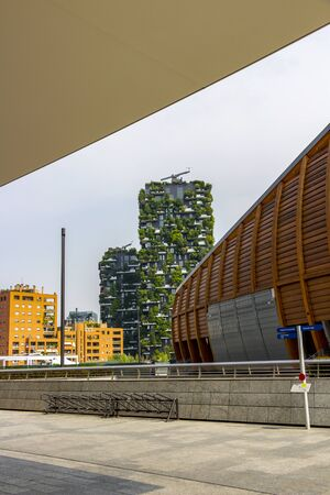 Porta Nuova District of Milan, Lombardy modern architecture, selective focus