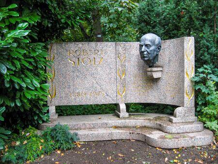 VIENNA, AUSTRIA - OCTOBER 20, 2009: Monument to Robert Stolz at Wiener Stadtpark or the City Park of Vienna