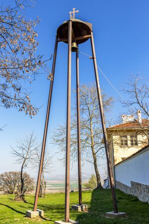 Batkunski Monastery of Sts Peter and Paul bell tower at the village of Patalenitsa, Pazardzhik Province, Bulgaria
