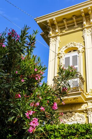 Villa Ruggeri architectural detail in Pesaro, Province of Pesaro and Urbino, Marche Region, Italy