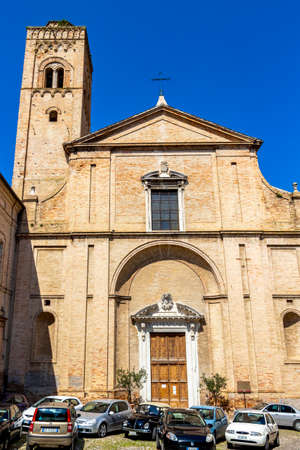 FERMO, ITALY - JUNE 01, 2018: Church of San Francesco in Fermo, Province of Fermo, Marche Region, Italy