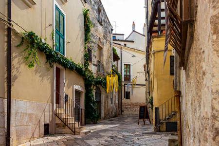 ALTAMURA, ITALY - AUGUST, 26, 2018: Old town street view in Altamura, Apulia, Italy