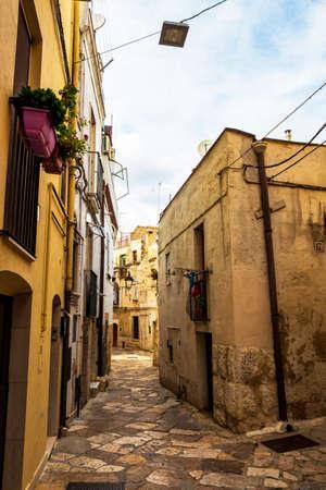 ALTAMURA, ITALY - AUGUST 26, 2018: Old town street view in Altamura, Apulia, Italy