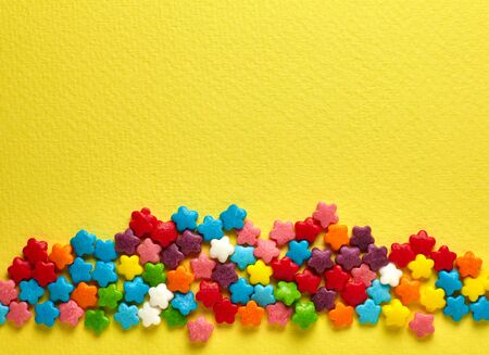 colorant: Candies. Colored glaze decoration for the cake