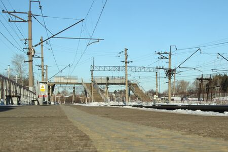 Railway in Russia on a sanny day in Siberia in Russia