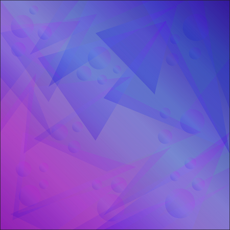 Bright abstract geometric background with triangles and balls for business. Vector trendy graphic design
