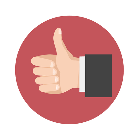 Thumbs Up icon,vector symbol in flat style. Like sign
