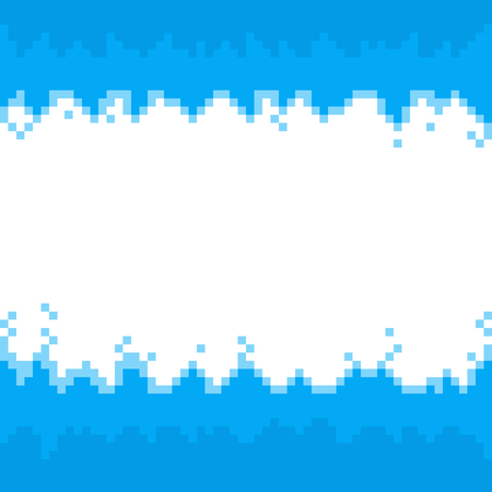 Blue abstract pixel borders,frame with space for your text. Vector pixelated background for design