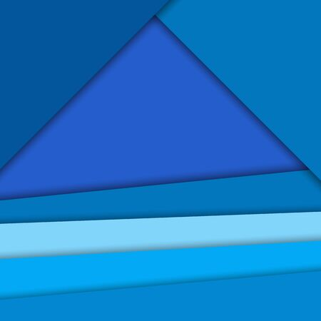 Material design vector background,bright blue colors. Abstract background with different levels surfaces, paper style and shadows Çizim