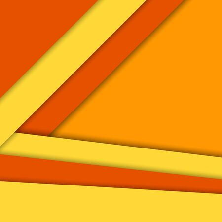 Material design vector background,bright warm colors. Abstract background with different levels surfaces, paper style and shadows