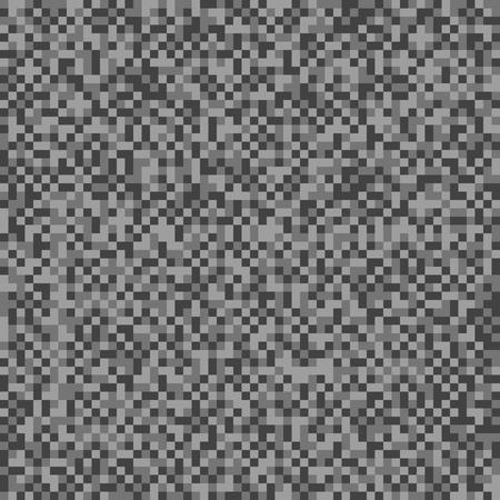 Monochrome pixel background. Seamless vector pattern. Pixel monochromatic wallpaper