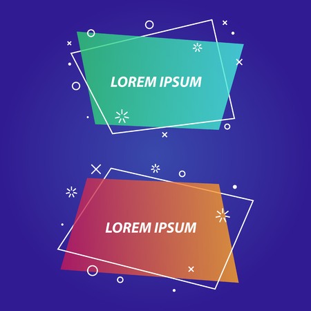 Geometric banners,speech bubbles,stickers,flat style. Ribbon banner, price tag, badge, poster. Vector set