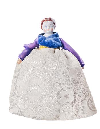 muneca vintage: Antig�edades figura de porcelana de sexo femenino, mu�eca de la vendimia