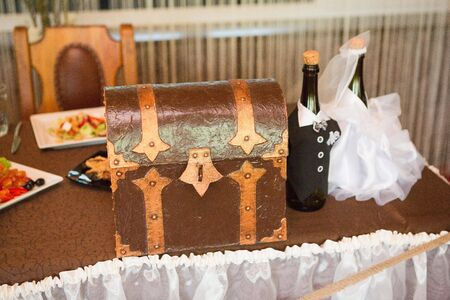 Hochzeit rustikale Brust für Wünsche und Geld