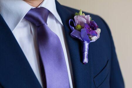 결혼식에 엉덩이 유행 신랑에 Boutonniere