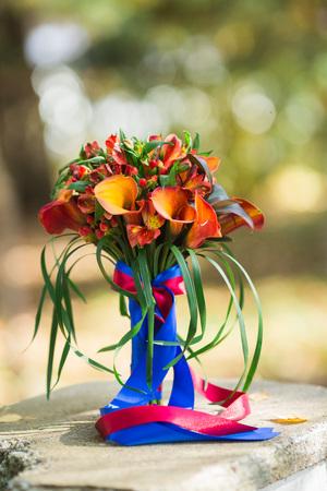 autumn, bridal bouquet, wedding in the autumn Stock Photo