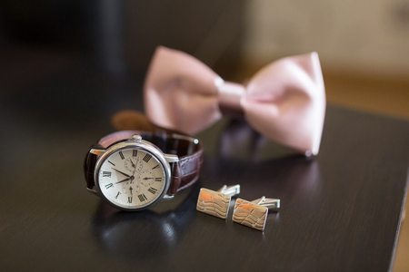 jewelry: Mens Wrist Watches and perfum at the grooms morning