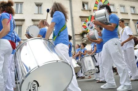 Warsaw, Poland - September 5, 2009 - Participants in the Carnival Parade - Bom Dia Brasil.