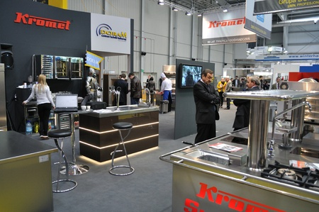 Warsaw, Poland - March 26, 2010 - Catering equipment - 14th International Food Service Trade Fair.