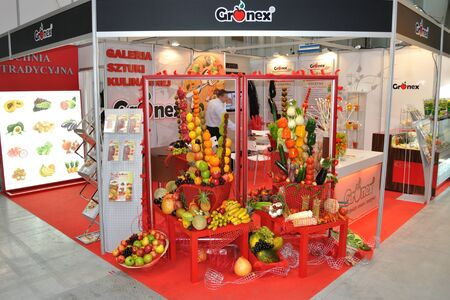 Warsaw, Poland - March 26, 2010 - Decorating with vegetables - 14th International Food Service Trade Fair.  Stock Photo - 9073531