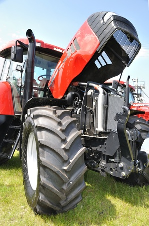 Plonsk, Poland - June 12, 2010 - Tractor showcase, during the 11th Masovian Agriculture Days.