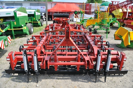 Plonsk, Poland - June 12, 2010 - Seed bed cultivator showcase, during the 11th Masovian Agriculture Days.