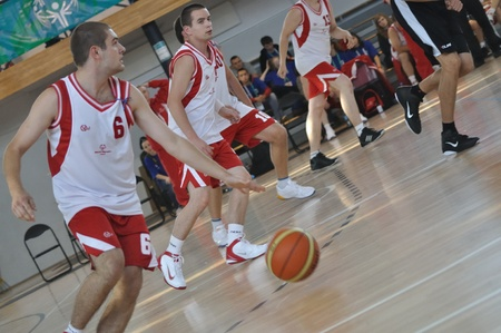 summer olympics: Warsaw, Poland - September 21, 2010 - Basketball game Belgium Vs. Poland during the Special Olympics European Summer Games  - ELIOS 2010 - international sporting competition for athletes with intellectual disabilities. Editorial