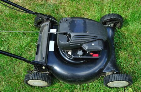 lawn mower - top view photo